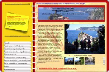 Cliquez pour visiter la page randonnée Cinque Terre.