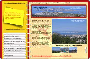 Cliquez pour visiter la page Randonnée calanques de Cassis.