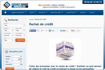 Cliquez pour visiter la page Rachat de prêt immobilier & regroupement de crédits .