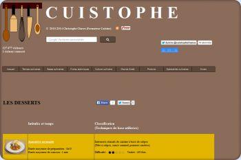 Cliquez pour visiter la page Recettes de desserts.