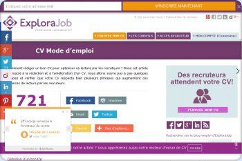 Cliquez pour visiter la page Comment rédiger un CV de façon adéquate ?.