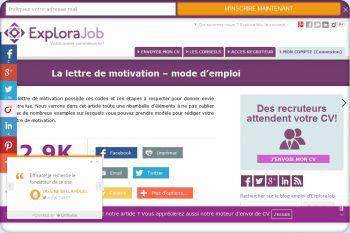 Cliquez pour visiter la page Comment rédiger un bonne lettre de motivation ?.