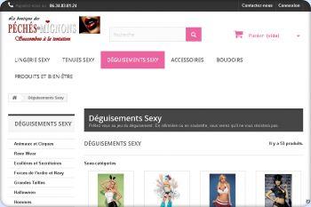 Cliquez pour visiter la page Déguisements et costumes Sexy.