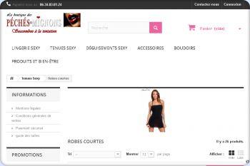 Cliquez pour visiter la page Robes de soirées glamours.