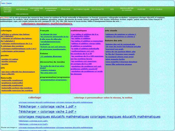 Cliquez pour visiter le site Passclasse maternelle et élémentaire
