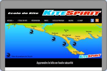 Cliquez pour visiter la page L'école de kite du Morbihan en images.