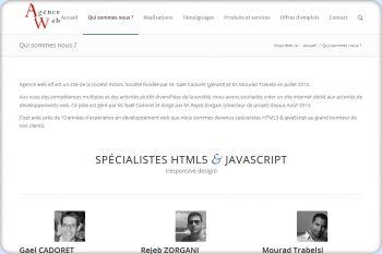 Cliquez pour visiter la page Spécialistes HTML5 et javascript (développements web).