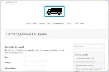 Cliquez pour visiter la page Déménagement Lausanne.