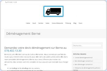 Cliquez pour visiter la page Déménagement Berne.