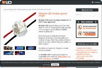 Cliquez pour visiter la page Module LED onepix pour enseigne lumineuse LED.