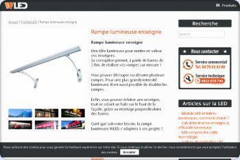 Cliquez pour visiter la page Rampe lumineuse enseigne LED.