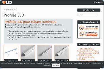 Cliquez pour visiter la page Gamme complète de profilés LED.
