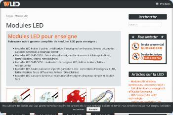 Cliquez pour visiter la page Modules LED pour enseignes.