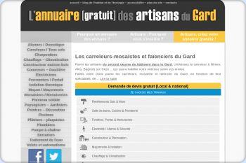 Cliquez pour visiter la page Carreleur à Nimes, Alès et Bagnols sur Cèze (Gard) - Carrelage  .