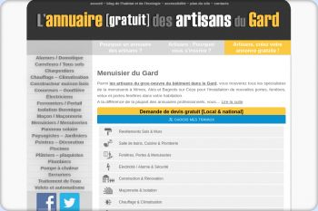 Cliquez pour visiter la page Menuiserie à Nimes, Alès et Bagnols sur Cèze - Menuisier Nîmes (Gard).