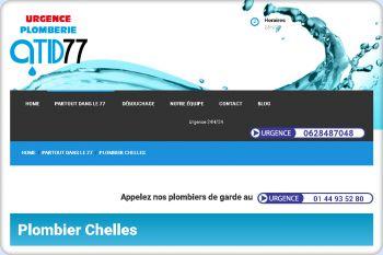 Cliquez pour visiter la page Plombier Chelles.