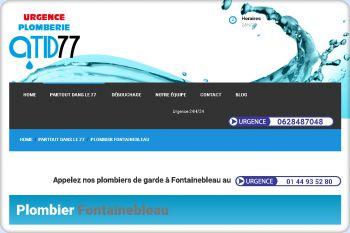Cliquez pour visiter la page Plombier Fontainebleau.