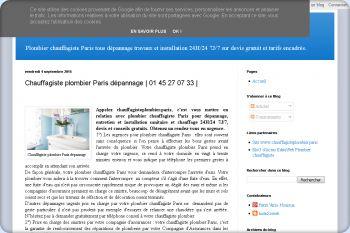 Cliquez pour visiter la page Chauffagiste plombier Paris.