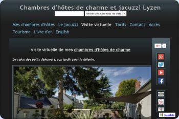 Cliquez pour visiter la page Visite virtuelle de mes chambres d'hôtes.