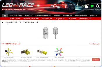 Cliquez pour visiter la page ampoule led voiture.