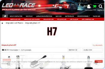 Cliquez pour visiter la page ampoule led h7.