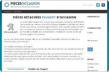 Cliquez pour visiter la page Réparez votre Peugeot avec des composants recyclés.