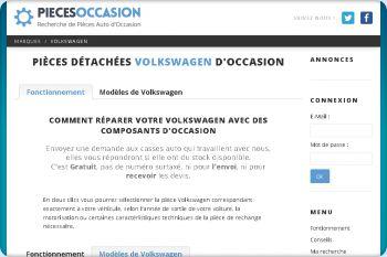 Cliquez pour visiter la page Des éléments mécanique ou de carrosserie d'occasion pour Volkswagen.