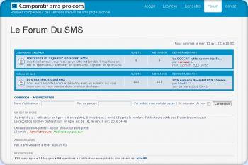 Cliquez pour visiter la page Le forum du SMS.