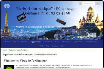 Cliquez pour visiter la page Nettoyage de virus informatique de l'ordinateur.