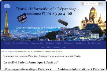 Cliquez pour visiter la page Dépanneur PC Paris 20 - 75020.