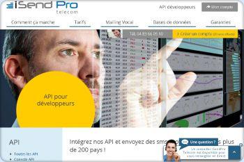 Cliquez pour visiter la page API SMS : Envoyez des sms professionnel.