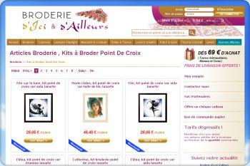 Cliquez pour visiter la page Kits A Broder Au Point De Croix : articles Broderie.