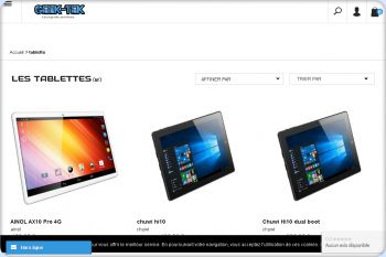 Cliquez pour visiter la page nos tablettes.