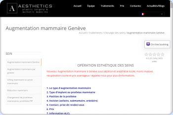Cliquez pour visiter la page Augmentation mammaire Genève.