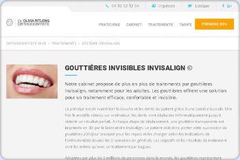 Cliquez pour visiter la page Orthodontie Invisalign.