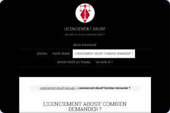 Cliquez pour visiter la page Licenciement Abusif Combien demander.