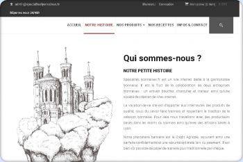 Cliquez pour visiter la page Spécialtiés Lyonnaises.