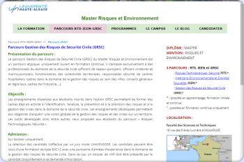 Cliquez pour visiter la page Parcours Gestion des risques de Sécurité Civile (GRSC).