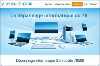 Cliquez pour visiter la page Dépannage informatique Sartrouville (78500).
