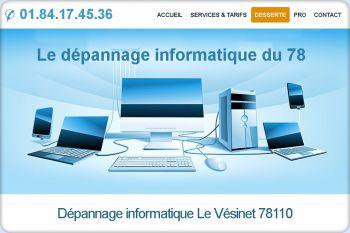 Cliquez pour visiter la page Dépannage informatique Le Vésinet (78110).