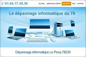 Cliquez pour visiter la page Dépannage informatique Le Pecq (78230).