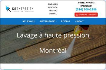Cliquez pour visiter la page Lavage à haute pression à Montréal, Laval et sur la Rive-Sud.