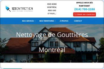 Cliquez pour visiter la page Nettoyage de Gouttieres dans le Grand-Montréal - Soumission Gratuite.
