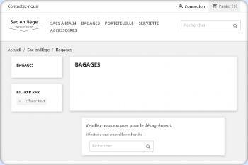 Cliquez pour visiter la page Bagage en liège.