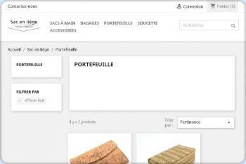 Cliquez pour visiter la page Portefeuille en liège naturel.