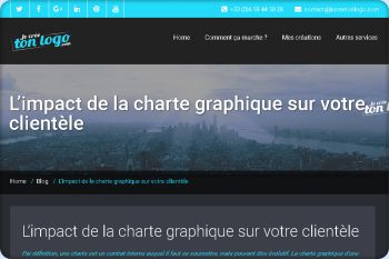 Cliquez pour visiter la page L'impact de la charte graphique sur votre clientèle.