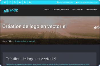 Cliquez pour visiter la page Création de logo en vectoriel.