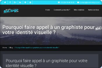 Cliquez pour visiter la page Pourquoi faire appel à un graphiste pour votre identité visuelle ?.