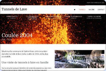 Cliquez pour visiter la page L'éruption magique : la Coulée 2004 ou le tunnel de lave le plus réputé.