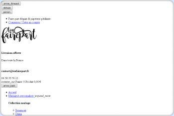 Cliquez pour visiter la page Carte d'invitation Mariage à personnaliser en ligne.